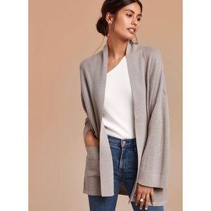 WILFRED | Copernic Knit Kimono Sweater Light Grey